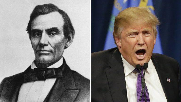 From left: President Abraham Lincoln