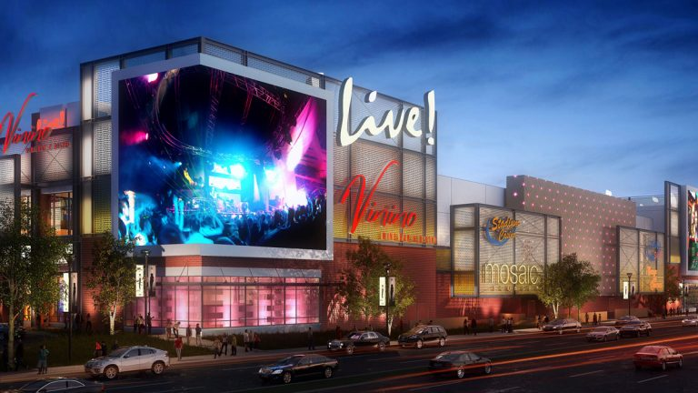 A rendering of the Live! Hotel & Casino Philadelphia, which received a license from the Pennsylvania Gaming Control Board on Tuesday. (Image courtesy of Cordish Companies)