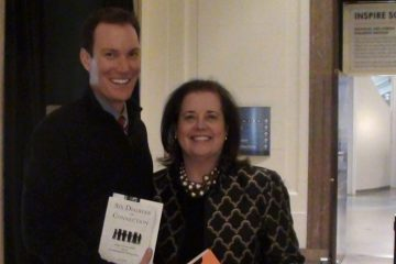 Leadership Philadelphia CEO Liz Dow is shown standing with happiness expert Shawn Achor. (Image courtesy of Liz Dow)