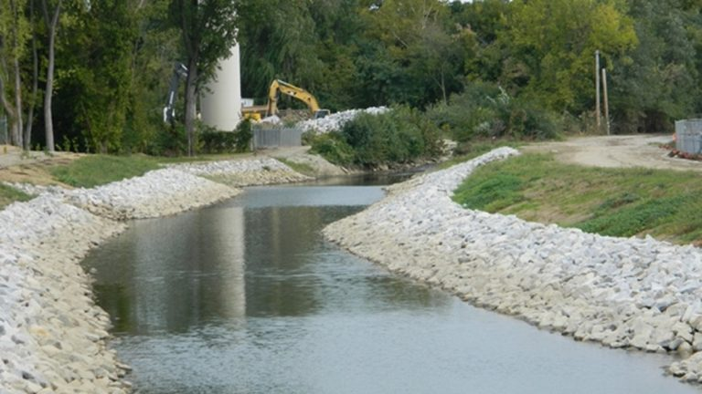 The lower portion of the completed Little Mill Creek flood abatement project (DNREC photo)