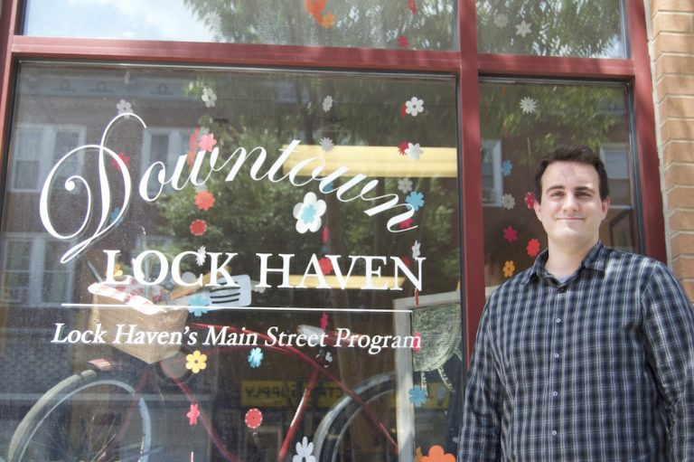 Penn State senior Duncan Ackerman spent the summer documenting vacant space in the city of Lock Haven. (Becca DeGregorio/WPSU)