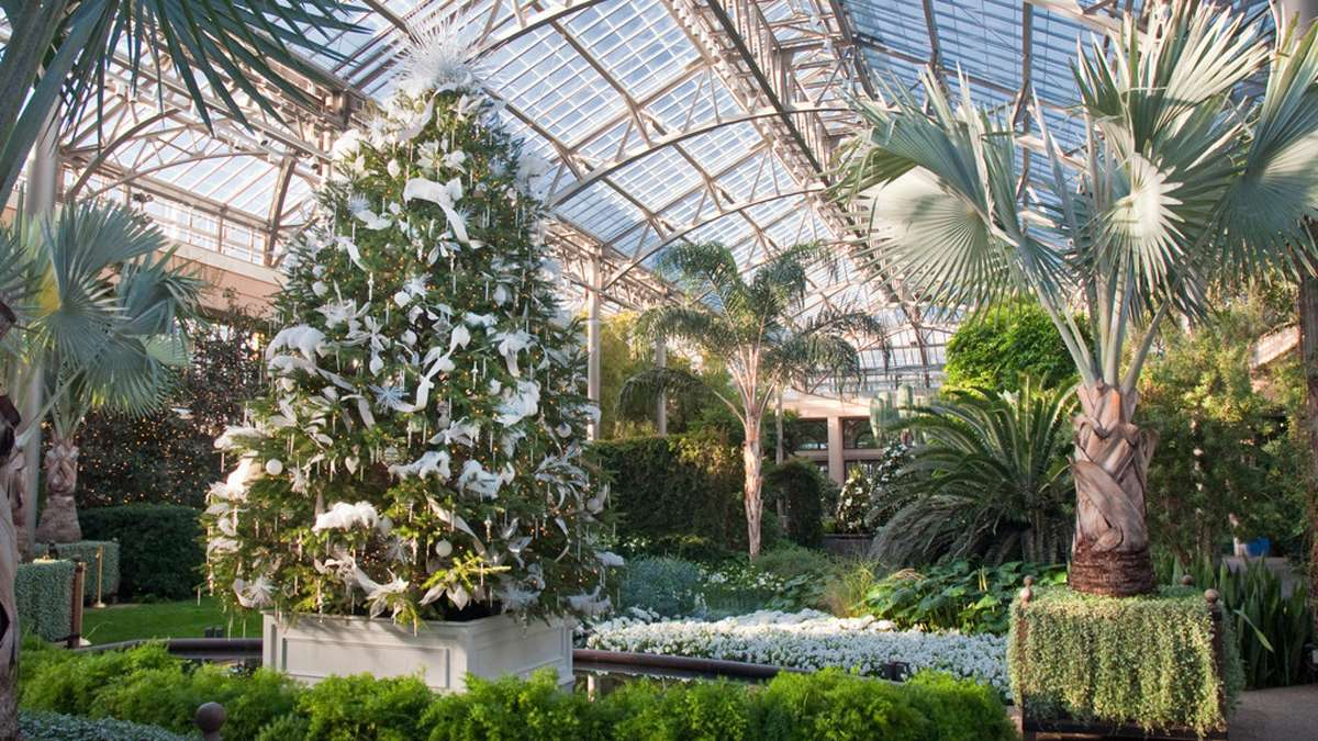 One of the living floral displays includes an 18-foot Douglas fir. (Image courtesy of Longwood Gardens)