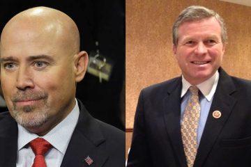 New Jersey Congressman Tom MacArthur  on the left (AP Photo/Mel Evans