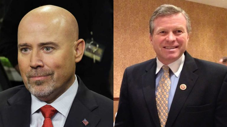 New Jersey Congressman Tom MacArthur  on the left (AP Photo/Mel Evans