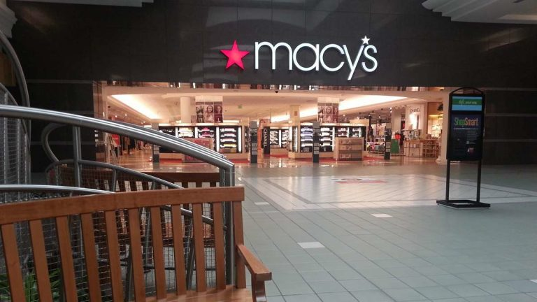 The Macy's in the Moorestown Mall is one of four in the region slated to close. (Alan Tu/WHYY