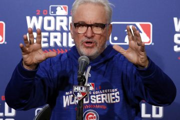 Chicago Cubs manager Joe Maddon answers a question during a news conference before Friday's Game 3 of the Major League Baseball World Series against the Cleveland Indians