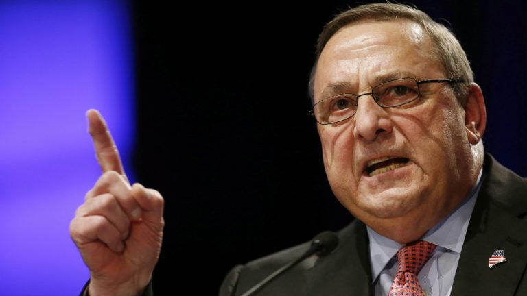 Republican Gov. Paul LePage has alienated Democrats with his bombastic leadership style and some in his own party say his high-profile antics have squandered his political capital. (AP Photo/Robert F. Bukaty, File)