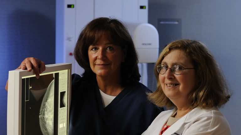 From left, Jean Hummer, mammography superviser at Fox Chase Cancer Center, and Dr. Kathryn Evers, director of the center. (Photo courtesy of Fox Chase Cancer Center)