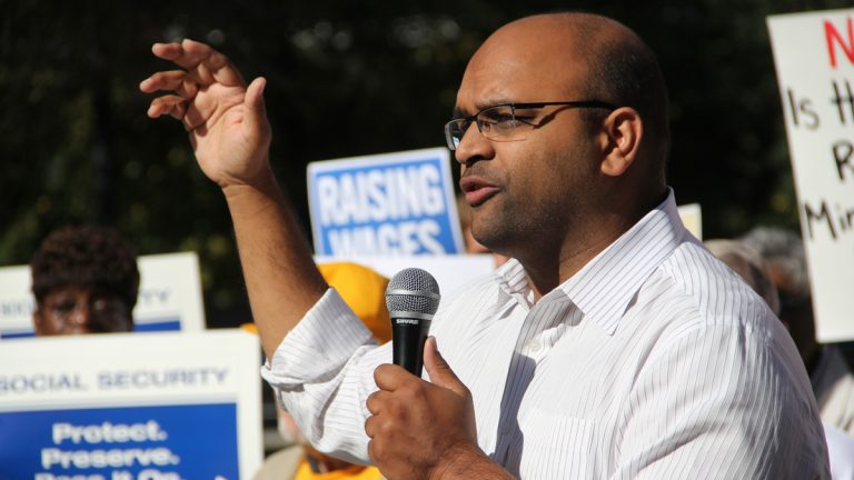 Manan Trivedi is the Democratic nominee for Pennsylvania's 6th congressional district. (Emma Lee/WHYY)