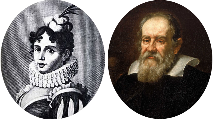Poet Margherita Sarrocchi and astronomer Galileo Galilei conducted a correspondence at the center of the Scientific Revolution of the Renaissance.