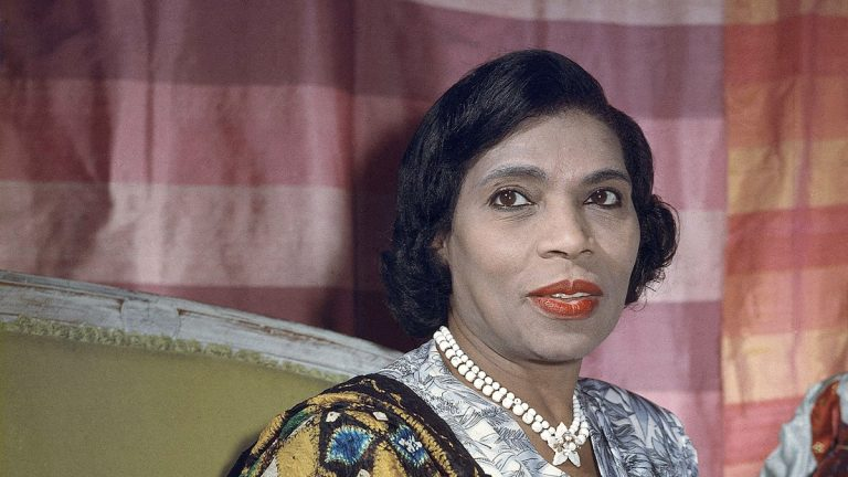 Despite her status as an internationally renowned singer, Marian Anderson, shown here in 1958, suffered from racist cultural barriers. (AP Photo)