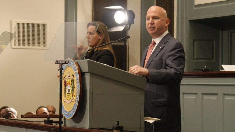 Gov. Jack Markell delivers his final State of the State Address at Legislative Hall in Dover Thursday afternoon. (photo via Flickr/Delaware Governor)
