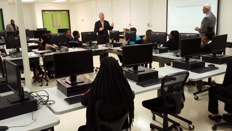 Gov. Markell discusses increased funding for the Pathways to Prosperity program. (photo courtesy Governor's office)