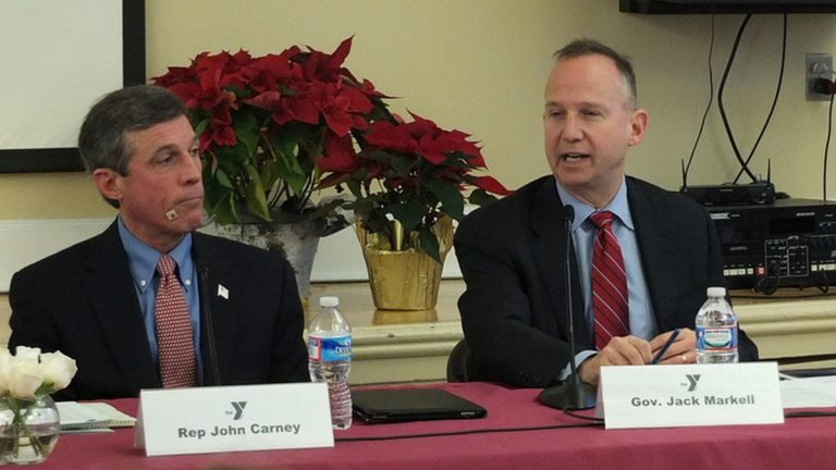 Delaware Governor Jack Markell speaks at a diabetes event hosted at the YMCA earlier this month.(photo courtesy Governor Markell's office)