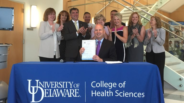 Gov. Jack Markell passed legislation Tuesday that will require health insurers to cover telemedicine care.