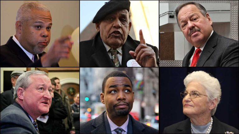 The six Democratic candidates in Philadelphia's mayoral field will debate at WHYY on Monday morning. (NewsWorks, file art)