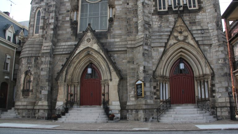 The Sacred Heart of Jesus Parish Church at third and Reed streets will be the site of a 'Mass mob' this Sunday. (Emma Lee/WHYY)