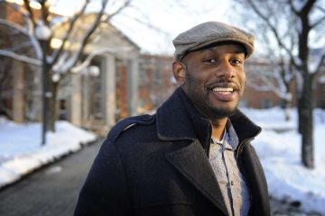 Maurice Hinson on the campus of Drexel College of Medicine. (Jonathan Wilson/for WHYY)