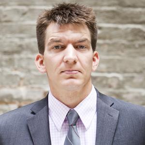 Matt Laslo in New York on Wednesday, August 24, 2011. (Jonathan D. Woods)