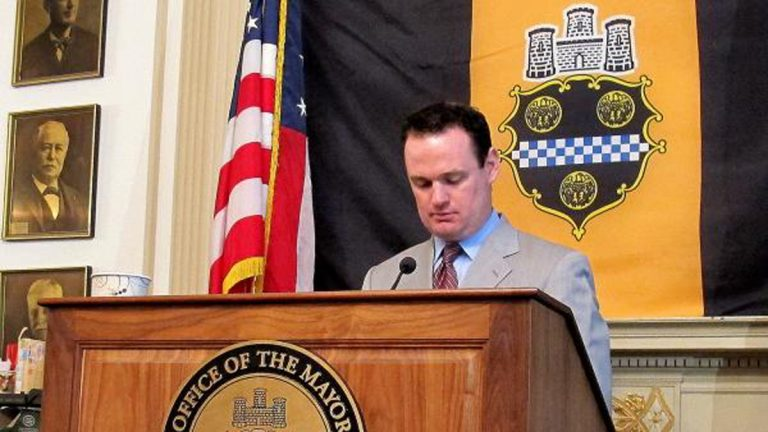 Outgoing Pittsburgh Mayor Luke Ravenstahl announced on March 1, 2013 that he would not seek reelection, after a tenure marked with a mix of triumphs and stumbles. (Deanna Garcia for 90.5 WESA)