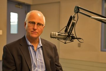 David Sciarra, Executive Director of Education Law Center discusses New Jersey's education funding formula's on NewsWorks Tonight.  (Lindsay Lazarski/WHYY)