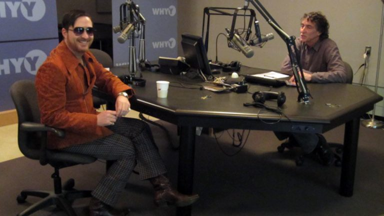 Johnny Showcase in the WHYY studios with Dave Heller (Marilyn D'Angelo/for NewsWorks)