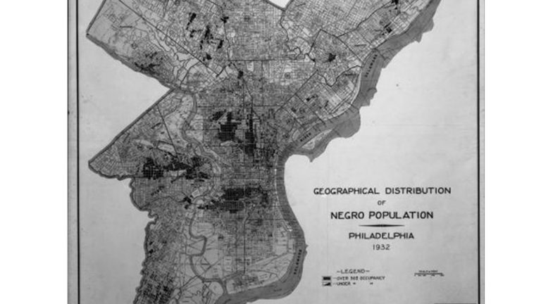 Geographical Distribution of Negro Population – Philadelphia 1932. City Plans Division. Bureau of Engineering and Surveys. (PhillyHistory.org)