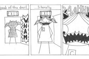 A portion of the comic 'Perspective' by Trey Banbury (Image courtesy of Banbury)