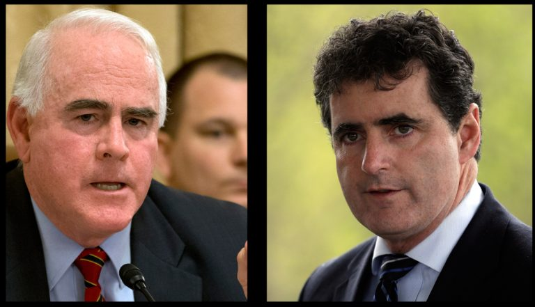 Rep. Patrick Meehan, R-Pa. (left), Rep. Mike Fitzpatrick, R-Pa. voted against cutting $40 billion in  food stamp funding (Jacquelyn Martin and Matt Rourke/AP Photos)