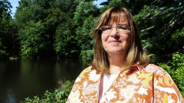 Melissa Killeen of Laurel Springs, NJ, will be honored next week for 'putting a public face and voice on recovery.' (Kimberly Paynter/WHYY)