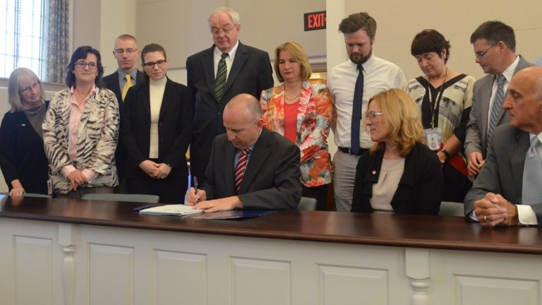 Gov. Markell signs changes to Delaware's mental health laws. (photo courtesy Gov. office)