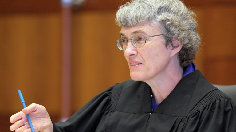 Mercer County Superior Court Judge Mary C. Jacobson ruled last week the state must allow gay couples to marry beginning Oct. 21 (AP Photo/The Star-Ledger, Tony Kurdzuk, Pool)