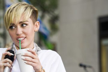 Miley Cyrus rehearses for her performance on NBC's