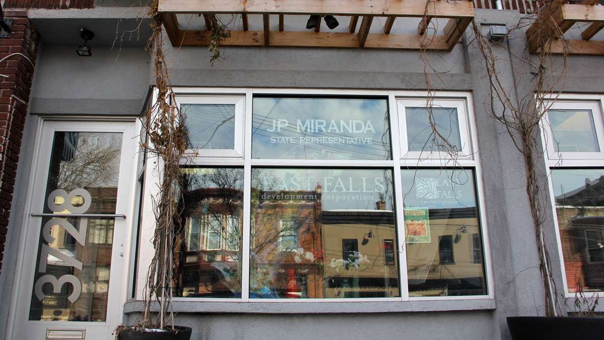 State Rep. JP Miranda's office in East Falls. (Emma Lee/for NewsWorks)