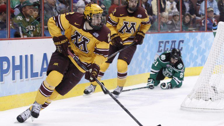 Minnesota beat North Dakota in the NCAA men's college hockey Frozen Four tournament game