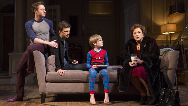 From left: Bobby Steggert, Frederick Weller, Grayson Taylor, and Tyne Daly in Terrence McNally's 'Mothers and Sons' on Broadway (Photo courtesy of Joan Marcus)