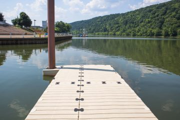 The Pennsylvania Environmental Council says the Monongahela Aquatorium, an outdoor auditorium on the Monongahela River, could draw people into the city of Monongahela. (Pennsylvania Environmental Council)