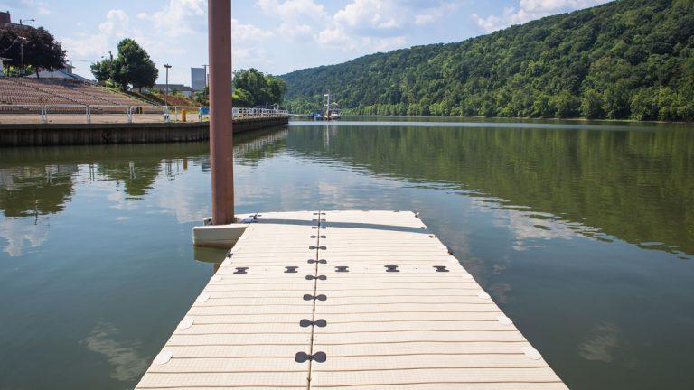 The Pennsylvania Environmental Council says the Monongahela Aquatorium, an outdoor auditorium on the Monongahela River, could draw people into the city of Monongahela. (Pennsylvania Environmental Council)