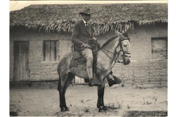 Fred Soper traveling on horseback to remote villages in Brazil. (Courtesy of Fred L. Soper)