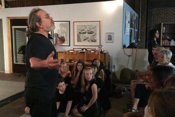 Ron Kravitz at Mt. Airy Art Garage. (Greta Iverson/for NewsWorks)