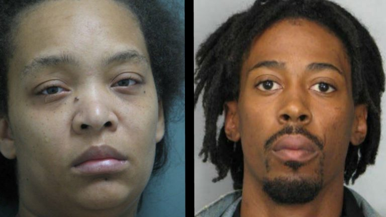31 year old Lakorya Harrison of Raleigh, North Carolina (left), and 28 year old Joshua R. Knox of Lawrenceville, Georgia face charges including theft. (photo courtesy Del. State Police)