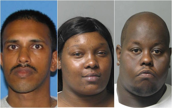 State Police have charged Singh, Lassiter and Boldon with racketeering and money laundering among other charges. (State Police photo)