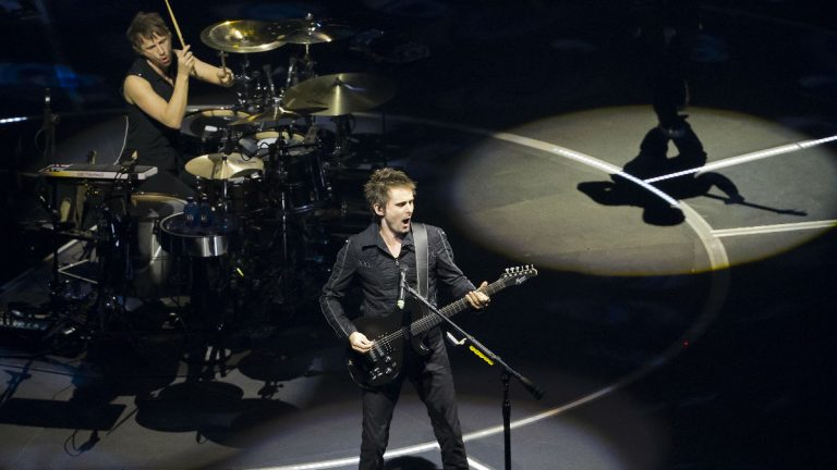 Matt Bellamy and drummer Dominic Howard of Muse perform at TD Garden in Boston