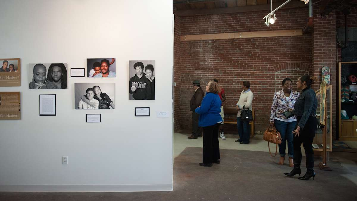 Check out our story on 'My Son Matters' at Mt. Airy Art Garage. (Tracie Van Auken/for NewsWorks)