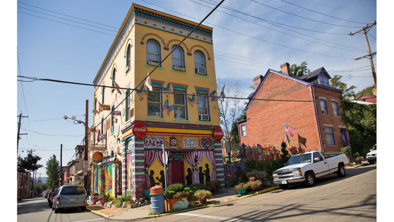 Trivia: Sometimes there's one house on the block that just screams out for attention.  Can you identify this city and landmark? (Lindsay Lazarski/WHYY)