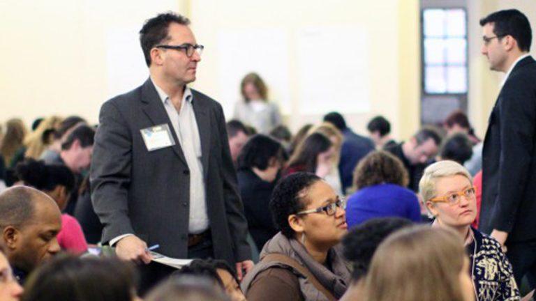 Jeff Hornstein, co-chair of the Philadelphia Crosstown Coalition Education Committee and president of the Queen Village Neighbors Association. (Lauren Summers/Philly School News)