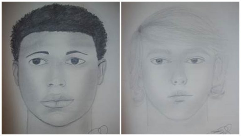 New Castle County Police released sketches of the two suspects involved in the robbery of a 12-year-old confined to a wheelchair (Sketches provided by NCCPD)