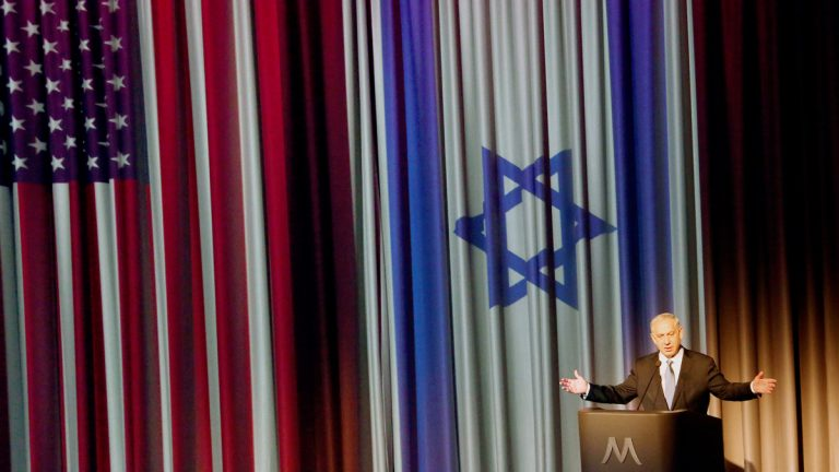 Israeli Prime Minister Benjamin Netanyahu is shown in a March 6, 2014, address to Los Angeles's Jewish community. (AP Photo/Nick Ut, File)