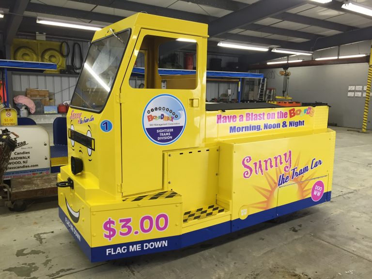 Temporary tram car engine will be appearing on the Boardwalk in  Wildwood, New Jersey. (Courtesy Patrick Rosenello)