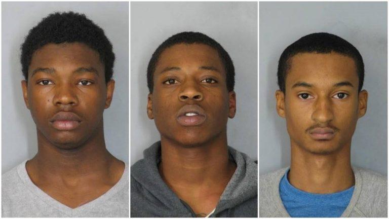 Blalock, Chattin and Pankins (photo courtesy of Newark police)